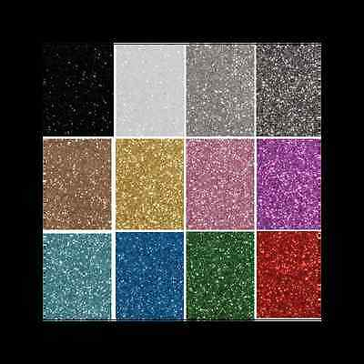 Glitter Felt Fabric X 2 Sheets A4 30 x 23cm Easy Cut Craft