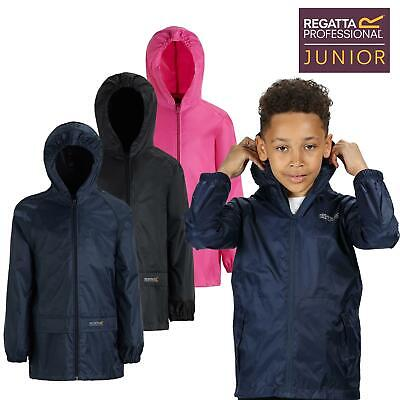 Regatta Kids Waterproof Stormbreak Shell Jacket Hooded Rain coat Boys Girls