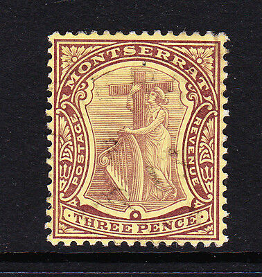 MONTSERRAT 1908-14 3d ON WHITE BACK SG 40a FINE USED.