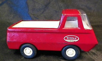 "1960's Vintage TINY Mini TONKA Pick Up Truck Red 4.25"" x 2"" USA Sticker"