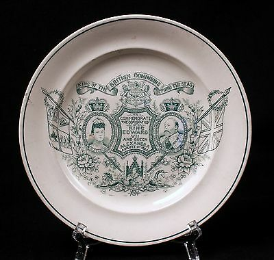 1902 Coronation Edward VII and Queen Alexandra August 2 1902 Plate