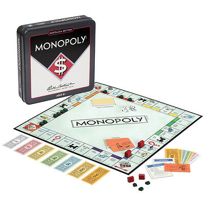 NEW Parker Bros Monopoly Nostalgia Edition Classic Board Game In Collectible Tin