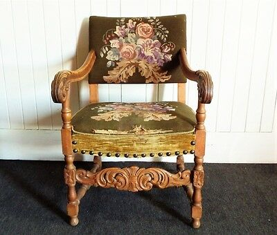 Antique carved armchair / reading chair - arm chair • £98.00