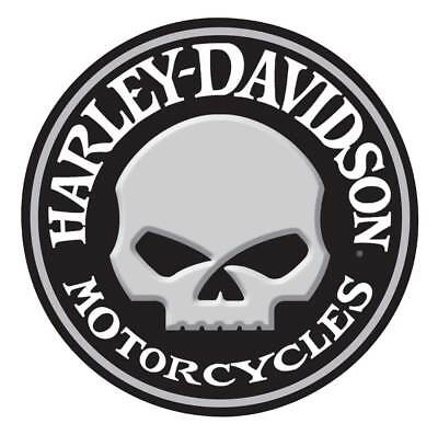 Harley-Davidson Embossed Willie G Skull Button Round Tin Sign, 14 inch 2011021