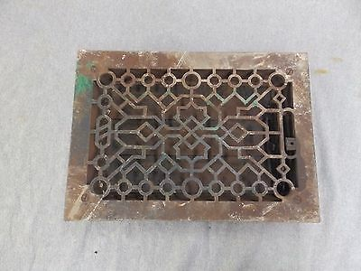 Antique Cast Iron Heat Grate Vent Register Old Vtg Decorative 8x12 1685-16