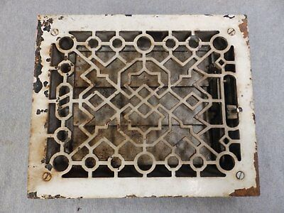Antique Cast Iron Heat Grate Vent Register Old Vtg Hardware 8x10 1688-16