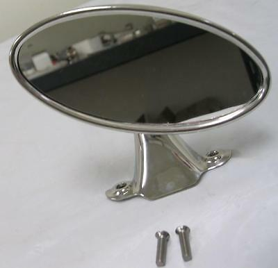 1941 - 1948 Ford Car & 1942 - 1952 Pickup Truck Rear View Mirror Stainless Oval