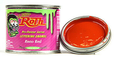 Reno Red lil daddy roth pinstriping paint enamel hot rod sign lettering