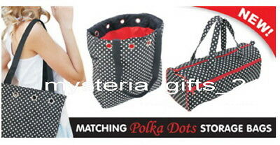 Craft Storage Bags Polka Dot 5 Pieces Ideal Starter Package