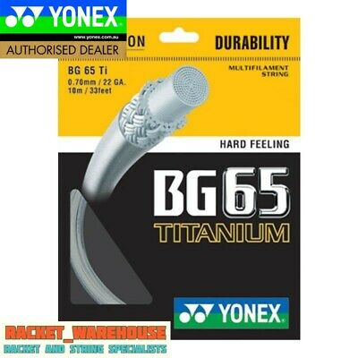 10 x PACKETS YONEX BG65Ti BADMINTON RACKET STRING 100% GENUINE CHOICE OF COLOUR