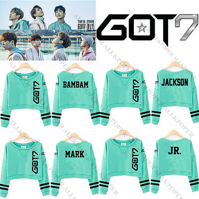 Kpop GOT7 Light Green Sweater FLIGHT LOG TURBULENCE Long Sleeve Shirt Pullover