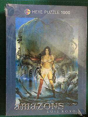 Puzzle Heye 1000 pezzi AMAZONS by LUIS ROYO - RED EYE Nuovo 48 X 68 Cm New