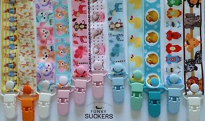 BABY GIRL / BABY BOY NEWBORN Handmade  Dummy Clips / Pacifier Clip / Chain