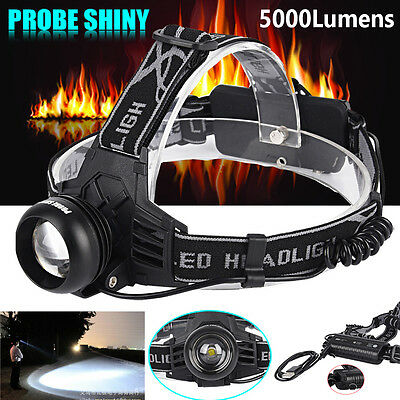 5000LM XM-L T6 LED USB Rechargeable Headlamp Headlight 18650 Head Bright Torch