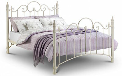 Stone White Victorian Style Bed Frame with Ornate detailing 3ft, 4ft6, 5ft sizes