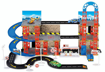 Kids Child Toy Multi Storey City Car Park Auto Parking Garage Play Set New Boxed