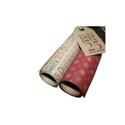 East of India Kraft Paper Christmas Wrap-3m
