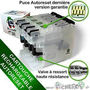 RECHARGEABLE-  Cartouche Rechargeable pour Brother LC123-LC125-LC129-LC223 - Pac