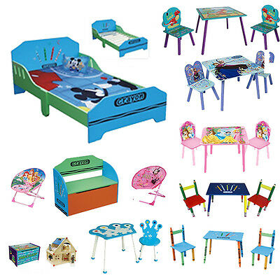 Children's Kids Bedroom Playroom Disney Furniture Role Play Toys Table Chair Set
