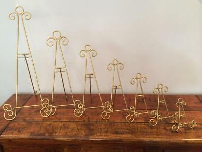Gold Iron Easel Display Canvas Picture Artwork Menu Plate Stand Wedding Aa-17
