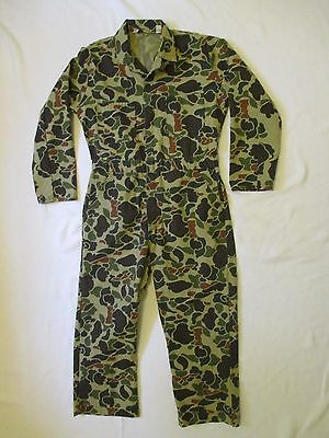 USA Made Vtg Mens Medium Walls Unlined Camouflage Coveralls Camo Jumpsuit