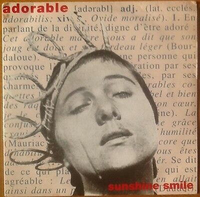 """ADORABLE Sunshine Smile VERY RARE 7"""" VINYL LTD NUMBERED CREATION CRE 127 A1/B1"""