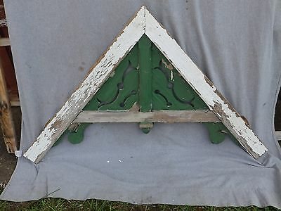 Antique Victorian Gingerbread Pediment Shabby Cottage Chic Gable Span 1692-16