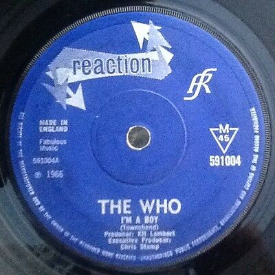 """THE WHO - I'M A BOY / IN THE CITY 1966 UK REACTION 591004 - 7"""" 45rpm VINYL MOD"""