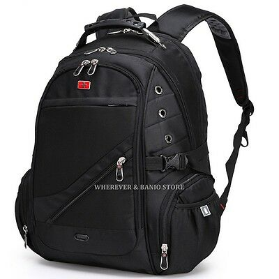 "Travel Gear Men 17"" 15"" Laptop Backpack Outdoor Bag Swiss Style Business Case 84"