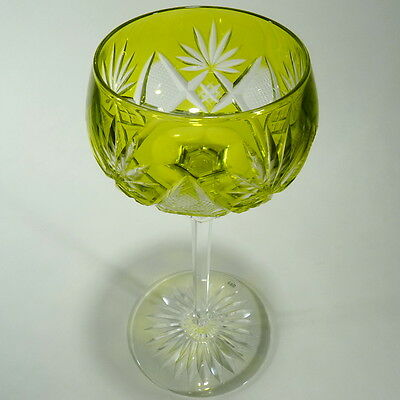 Val St Lambert Berncastel Chartreuse Cut to Clear Crystal Wine Goblet Belgium