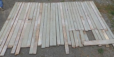 Genuine Antique Pine Wide Plank Tongue & Groove Flooring 200 sq ft Old 1701-16