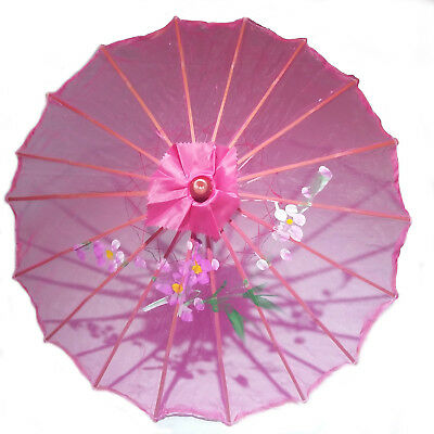Hot Pink Transparent Chinese Parasol 22in 160-11 S-2595