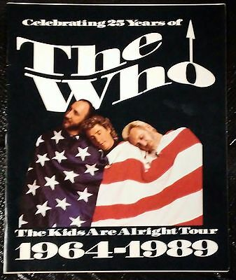 THE WHO 25th Anniversary 1989 TOUR PROGRAM