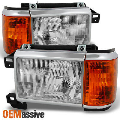 Headlight Headlamp Driver Side Left LH for 87-91 Bronco F Series Pickup Truck