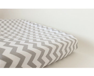 GOOSEBERRY Fitted Change Mat Pad Table Cover Cotton Chevron