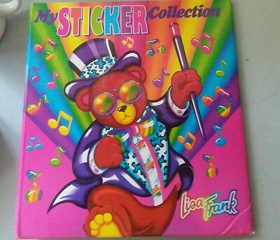 Lisa Frank Hollywood Bear Sticker Binder - binder only, no inserts or stickers