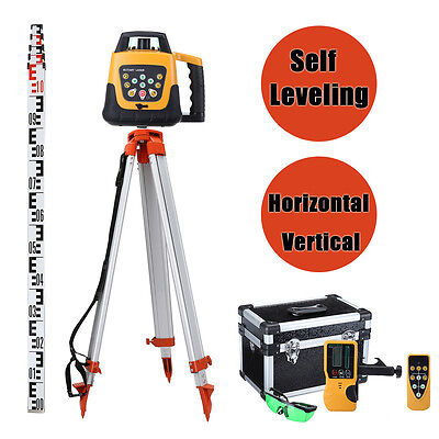 Self-leveling Construction 500M Rotary Rotating Green Beam Laser Level w/ Tripod