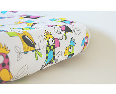 GOOSEBERRY Fitted Change Mat Pad Table Cover Cotton Parrots