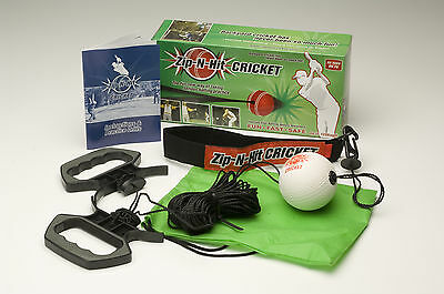 Zip N Hit Cricket , FUN-FAST-SAFE (Best Present for Cricket or Baseball Lovers)