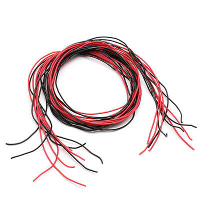 24AWG Silicone Flexible Stranded Gauge Wire Copper Cable 10 Feet Fr RC Black Red