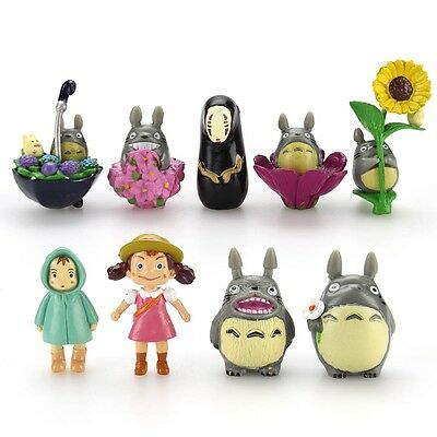 9PCS New Hot My Neighbor Totoro & Spirited Away Mini Figure Set Collection