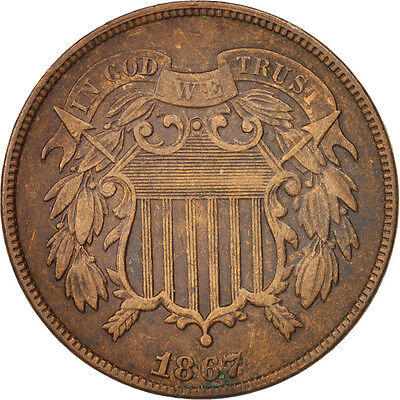 [#97774] United States, 2 Cents, 1867, U.S. Mint, Philadelphia, EF(40-45), KM:94