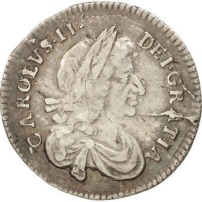 Great Britain, Charles II, 3 Pence, 1677, EF(40-45), Silver, KM:433