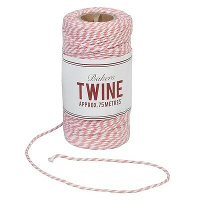 dotcomgiftshop BAKERS TWINE PINK AND WHITE