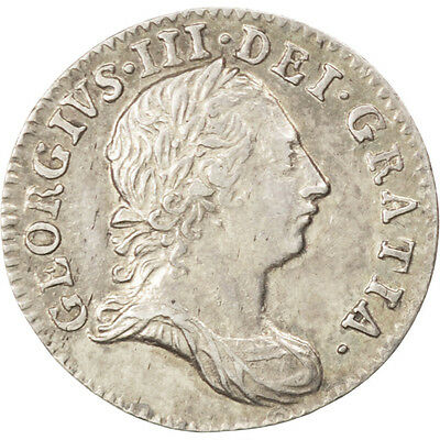 [#43827] GREAT BRITAIN, 3 Pence, 1763, KM #591, MS(63), Silver, 1.45