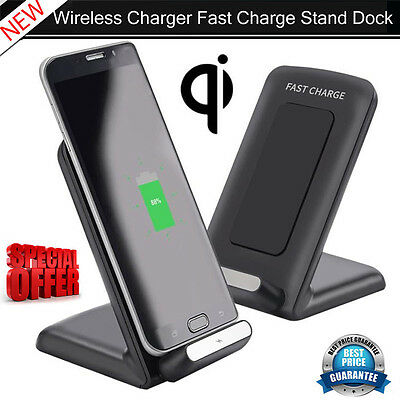 Qi Fast Wireless Charger Rapid Charging Stand for Samsung Galaxy S7 / S7 Edge UK