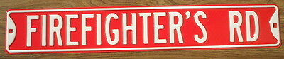 FIREFIGHTER'S RD Steel Street Sign signs decor cars painting home transportation