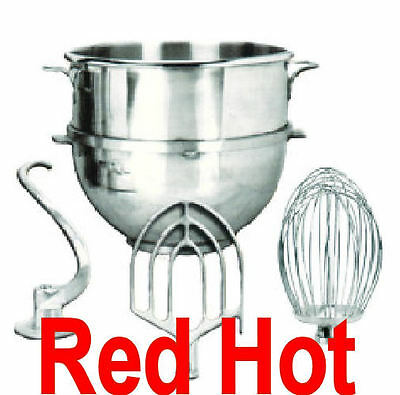 New 60 Qt. Attachment Special Bowl, Whip, Paddle, Hook Fits Hobart H600 Mixer