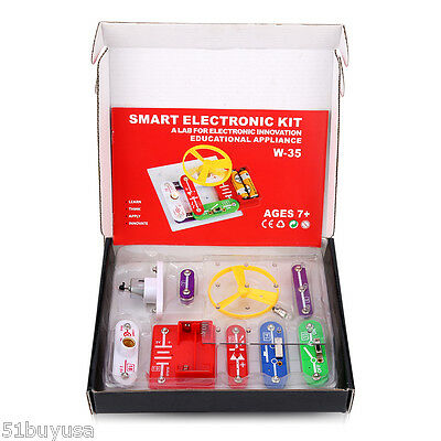 Teacher Wang Kid Snap circuits Electronics Discovery Kit Science Educational Toy
