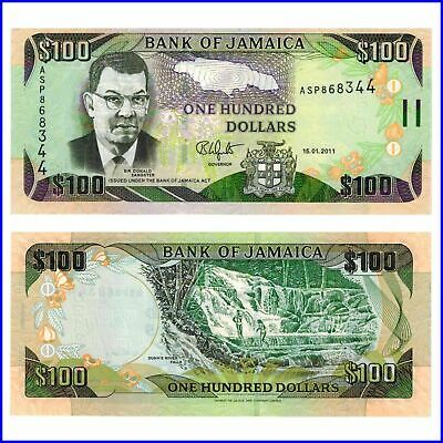 Jamaica 100 Dollars 2012 Unc.Pick:90 #